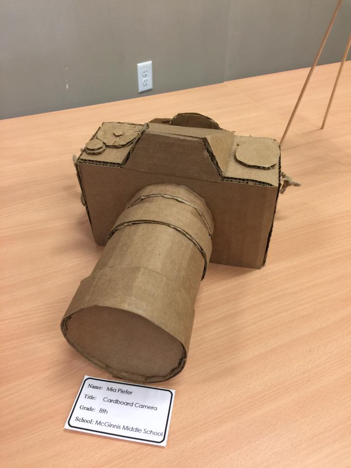 CARDBOARD CAMERA by Mia Piefer an 8th grader at McGinnis Middle School