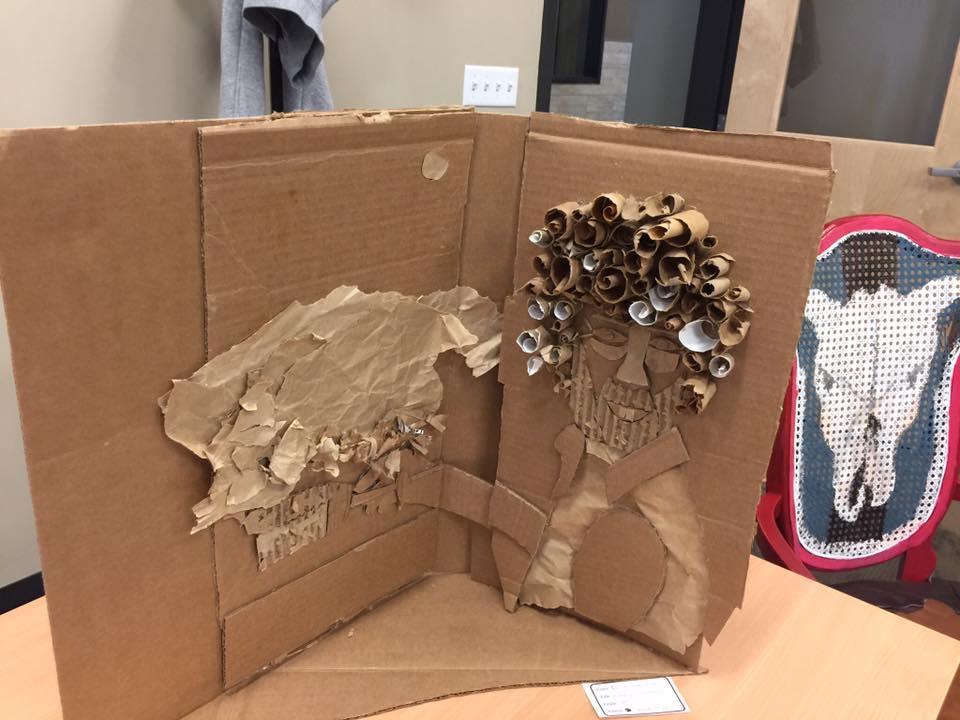 HAPPY CARDBOARD by Chloe Herrmann an 8th grader at Creede Middle School
