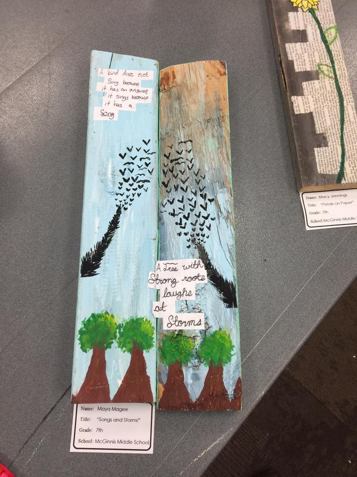 SONGS AND STORMS by Maya Magee a 7th grader at McGinnis Middle School
