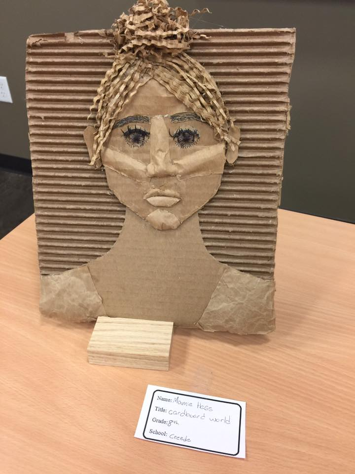 CARDBOARD WORLD by Mamie Hess an 8th grader at Creede Schools