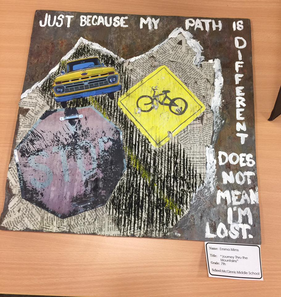 JOURNEY THRU THE MOUNTAINS by Emma Mims a 7th grader at McGinnis Middle School