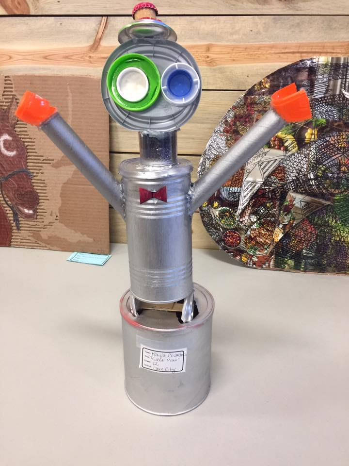 ROBOT MAN - This entry is by Kayla Chambers a 12th grader at Lake City High School